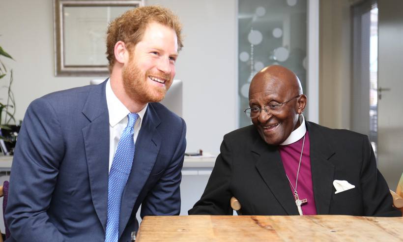 Prince Harry reunites with Archbishop Desmond Tutu in Cape Town on Nov. 30 to present the peacemaker with a special honour at the Desmond & Leah Tutu Legacy Foundation offices. 
