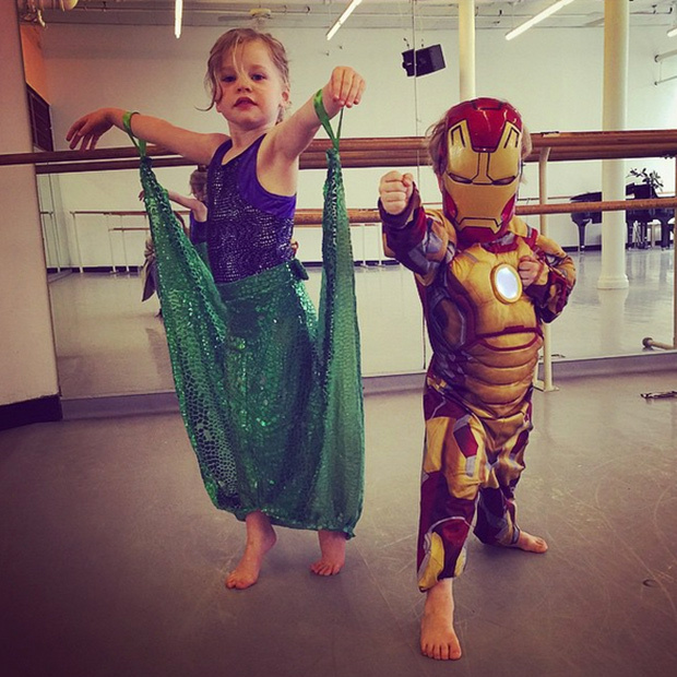 "<p>""For today only, Gideon and Harper's dance class allows them to wear a costume of their choosing. #BestSwanLakeEver""</p>