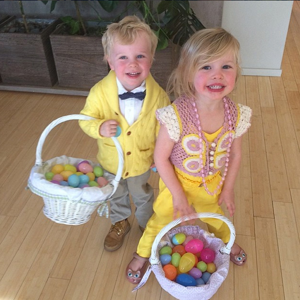 "<p>""Been having a wonderful Easter Sunday with @DavidBurtka and my two favorite bunnies.""</p>
