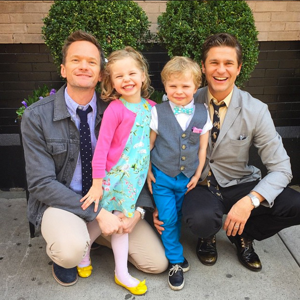 "<p>""Happy Easter from the Burtka-Harris bunnies and one lil' chick!""</p>
