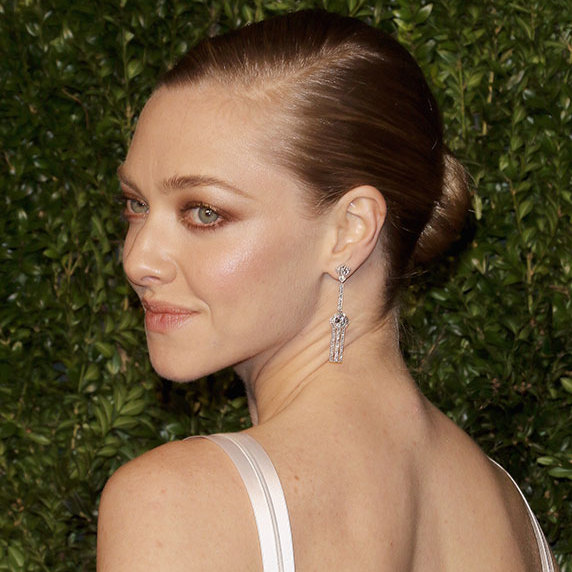 A chignon adds an instant dose of glamour to any occasion, and the <em>Mamma Mia!</em> actress turned heads with her smooth ballerina bun as she arrived at the CFDA awards.