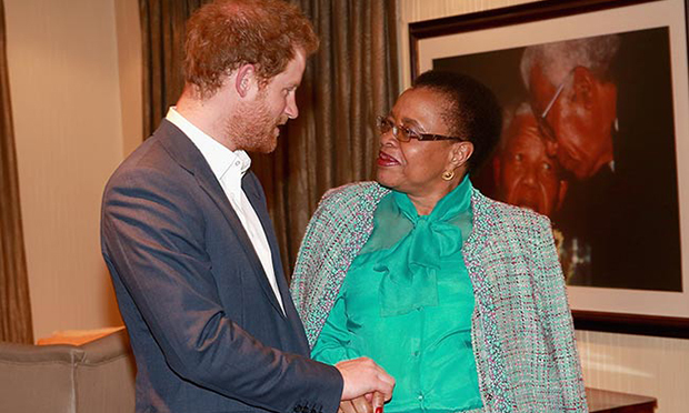 <p>Harry also met with Nelson's widow Graca Machele. When the statesman passed away in 2013, the prince was trekking in the South Pole as part of the Walking with the Wounded South Pole Allied Challenge. He honoured Mr. Mandela's life by planting a South African flag along the route. He presented a picture of the special moment to Graca during their time together.</p>