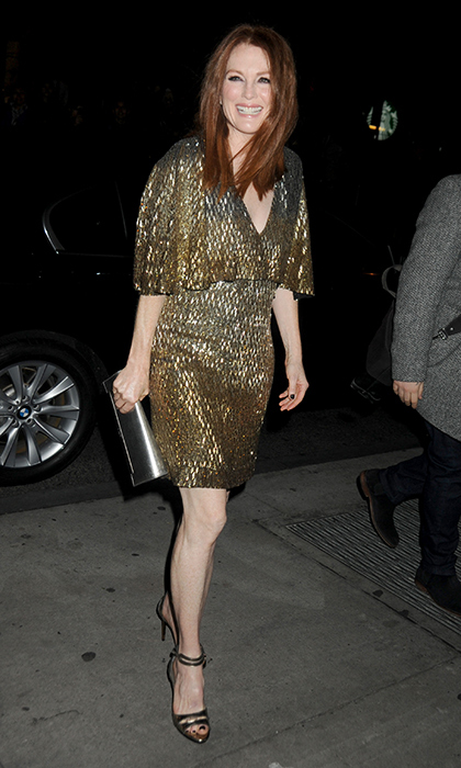 Sparkling like the gilded A-lister she is, Julianne Moore dazzled in sequinned Saint Laurent at the 25th IFP Gotham Independent Film Awards in New York City. 