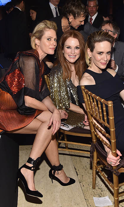 <p>Sunrise Coigney, Julianne Moore and Sarah Paulson strike a pose at the Gotham Independent film Awards at New York's Cipriani restaurant. </p>