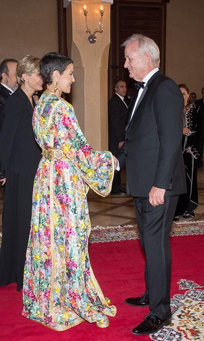 <p>Funnyman Bill Murray received a warm welcome from Morocco's Princess Lalla Meryem at the 15th Annual Marrakech International Film Festival.</p>