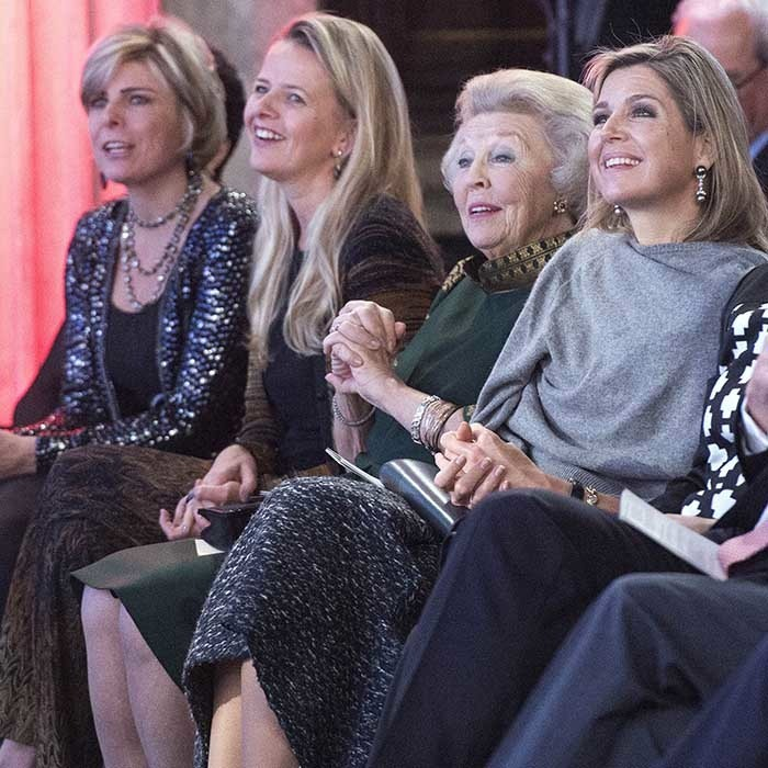 <p> It was a ladies' day out for (from right) Queen Maxima, mother-in-law Princess Beatrix, Princess Mabel and Princess Laurentien, as the Dutch royals attended a presentation of the Prince Claus Award 2015 to Iranian photographer Newsha Tavakolian.</p>