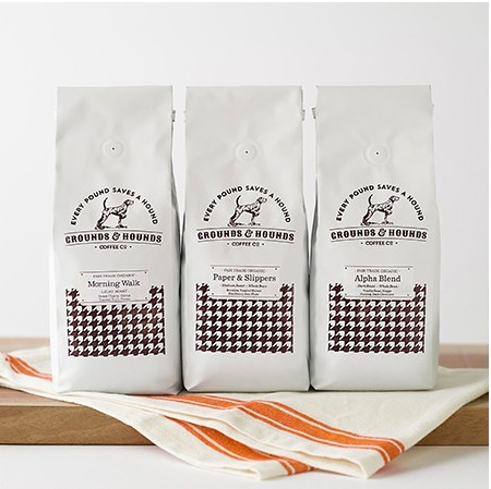 "<p>Grounds and Hounds Coffee Company Three Blend Starter Kit, $26, <a target=""_blank"" href=""http://grounds-and-hounds.myshopify.com/collections/frontpage/products/three-blend-sample-pack""> groundsandhoundscoffee.com</a>.</p>