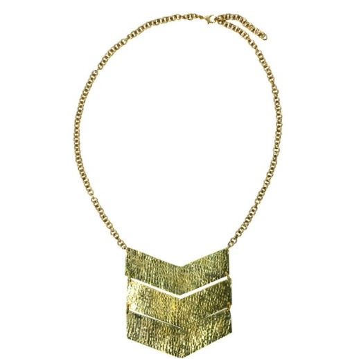 "<p> Ten Thousand Villages chevron trio necklace, $59, <a target=""_blank"" href=""http://www.tenthousandvillages.ca/shop/en/all-products/4110002-chevron-trio-necklace.html""> tenthousandvillages.ca</a>.</p>