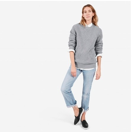 "<p>Everlane Chunky Knit Boyfriend Cashmere Crew sweater, $98,<a target=""_blank"" href=""https://ca.everlane.com/collections/womens-all/products/womens-ribbed-crew-grey""> everlane.com</a>.</p>