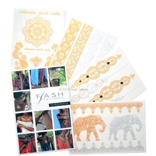 "<p>Sheebani flash tattoos, $25, <a target=""_blank"" href=""http://www.flashtat.com/sheebani/""> flashtat.com</a>.</p>