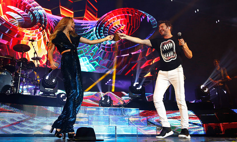 "<p>It was a ""Perfect Day"" for Lindsay Lohan when she joined Duran Duran on stage at their sold-out show in London.</p>