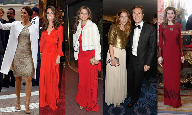 From dazzling gold and silver dresses to festive red dresses and gowns, royals like Kate, Queen Letizia and Princess Beatrice never fail to inspire our holiday ensembles. Click through to see the most seasonal looks from some of our favourite stylish royals!