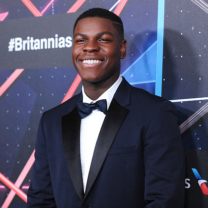 British actor John Boyega portrays AWOL stormtrooper Finn in the upcoming movie. As seen in a trailer for the film, the 23-year-old fights alongside Han Solo (Harrison Ford). John's character forms a special bond with actress Daisy Ridley's character Rey. John is probably best known for his role in the film <em>Attack the Block.</em>