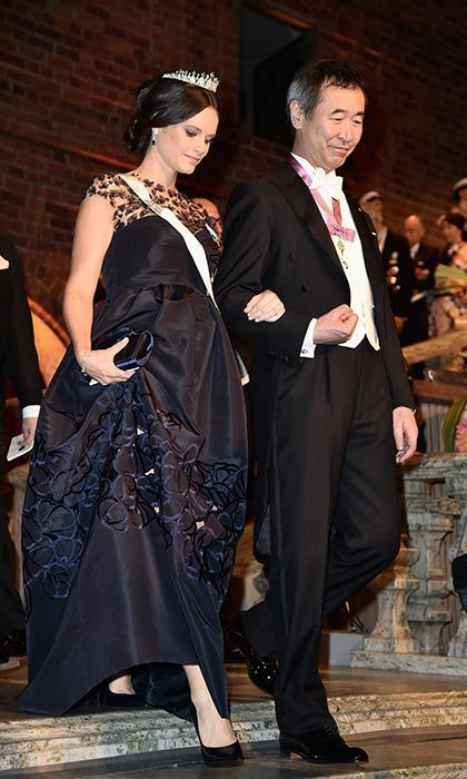 <p>Sofia kept her blossoming bump concealed under an intricately embellished midnight blue gown at the Nobel Prize Banquet on Dec. 10.</p>