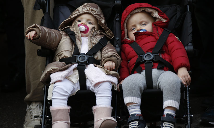 <p>Prince Albert and Princess Charlene bundled up their adorable twins, Prince Jacques and Princess Gabriella, and took them to Monaco's march for climate change on Nov. 29. The adorable tots later celebrated their first birthday on Dec. 10.</p>
