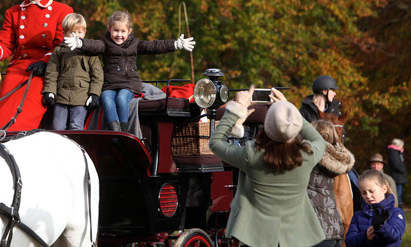<p>Princess Mary couldn't stop taking photos of her darling twins, Prince Vincent and Princess Josephine, at Denmark's fox hunt on Nov. 1.</p>