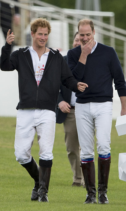 <p>Best brothers Prince William and Prince Harry were all smiles after competing against each other in a charity polo match on May 31 in London.</p>