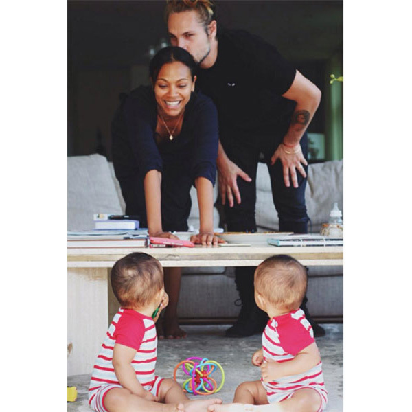 <strong>Cy Aridio and Bowie Ezio Perego-Saldana</strong><br>