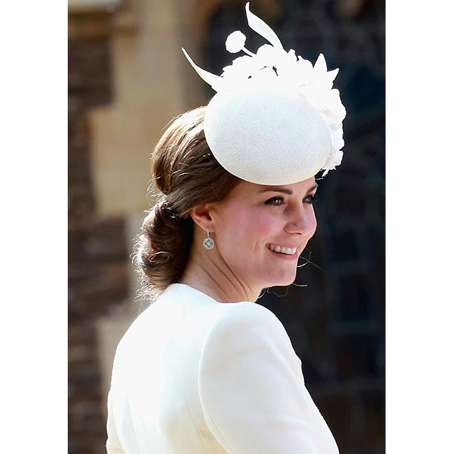 "<a href=""/tags/0/kate-middleton/"">The Duchess of Cambridge</a> was the epitome of elegance for daughter <strong>Princess Charlotte</strong>'s christening. The 33-year-old opted for barely-there make-up teamed with dark smokey eyes, sweeping her brunette tresses into a low bun and accessorising with a chic cream Jane Taylor hat to match her Alexander McQueen dress coat.<br>