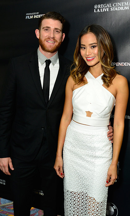 "Actress Jamie Chung said ""I do"" to her <em>Already Tomorrow in Hong Kong</em> costar Bryan Greenberg during a three-day celebration in Santa Barbara, culminating in a Halloween ceremony and reception at El Capitan Canyon. Following a ""Boos and Booze"" welcome dinner and party in the woods, the bride slipped into her bespoke long-sleeved Monique Lhuillier gown and exchanged personal vows with her navy tuxedo-clad love in a stunning outdoor ceremony followed by a rustic-chic celebration. 