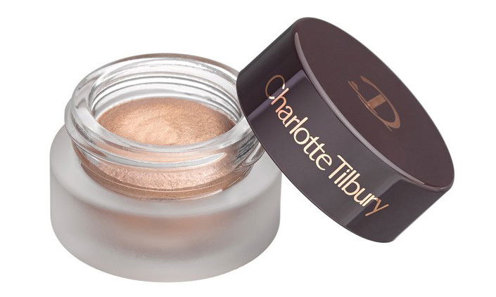 Use fingertips to blend this cream shadow onto lids for a radiant, one-minute, no-mirror eye makeup look. <strong>Charlotte Tilbury Eyes to Mesmerise Cream Shadow pot in Jean</strong>, $36,