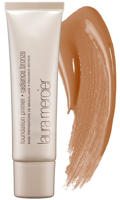 Create a lit-from within base with this multitasking illuminating primer-foundation hybrid. <strong>Laura Mercier Foundation Primer in Radiance</strong>, $40,