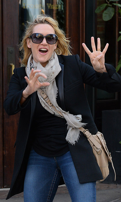Mother-of-three Kate Winslet took to the streets to celebrate her milestone 40th birthday in October.