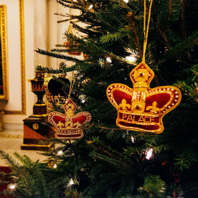 Naturally, the decorations at Buckingham Palace are fit for royalty as the palace's official Instagram account shows.