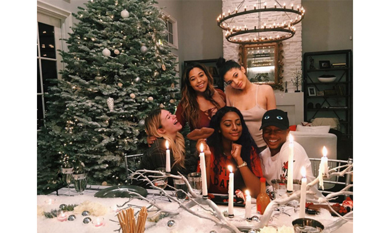 """First friend Christmas dinner at the house,"" wrote Kylie Jenner, who moved into her own mansion earlier this year.