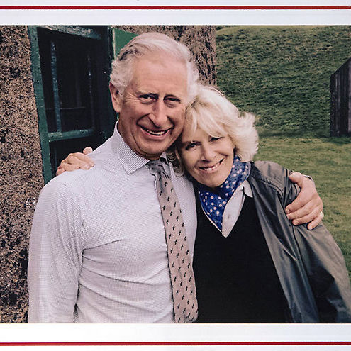 Prince William's father Prince Charles also handed out his annual Christmas greeting, featuring a cuddly shot of himself and wife Camilla taken by a friend this summer in Scotland.