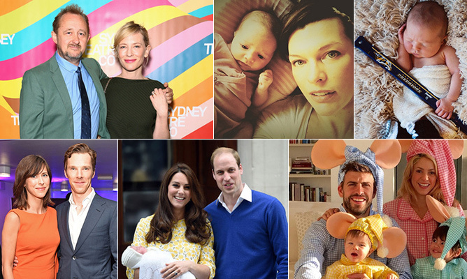 It was a big year for adorable new additions and the stars couldn't help but share their joy with each new arrival. We've rounded up the babies born in 2015 - click through to see who expanded their broods!