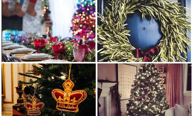 See the lavish christmas trees and decorations in for Celebrity christmas home decorations