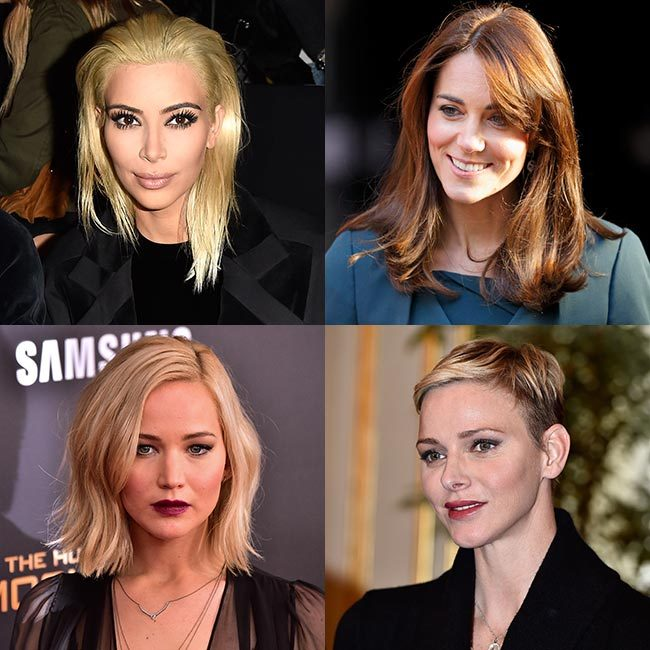 From the Duchess of Cambridge opting for a fringe to Kim Kardashian's brief stint as a blonde, we take a look at the most memorable hair transformations of 2015 – click through for the full gallery…