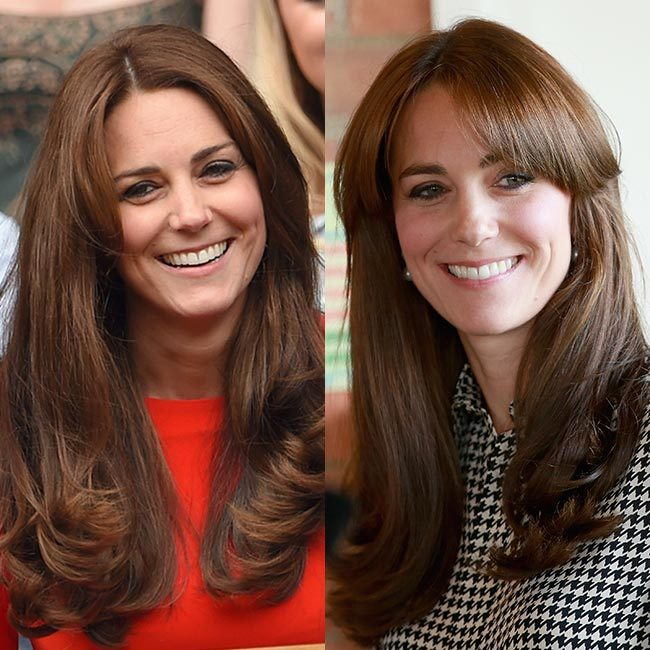 <b>The Duchess of Cambridge getting a fringe</b>