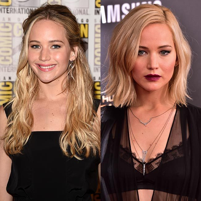 <b>Jennifer Lawrence's platinum blonde bob</b>