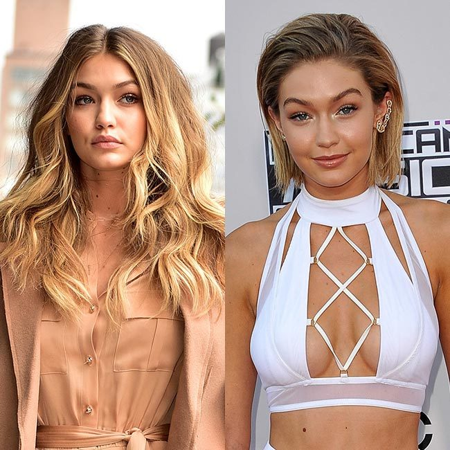 <b>Gigi Hadid's faux bob</b>