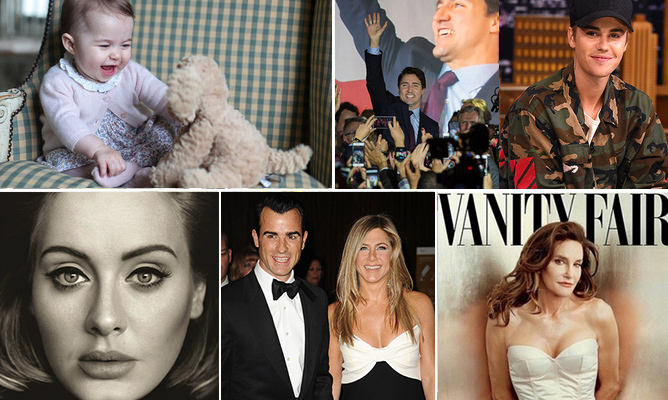 From weddings to record-breaking milestones, <em>Hello!</em> rounds up the biggest celebrity highlights of 2015.