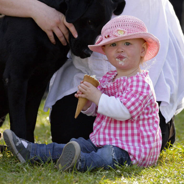 One-year-old Savannah enjoyed a sweet treat at the Gatcombe Horse Trials in 2012. She often attends horsing events with her family, including her aunt, Zara Phillips, who is a decorated equestrian.  