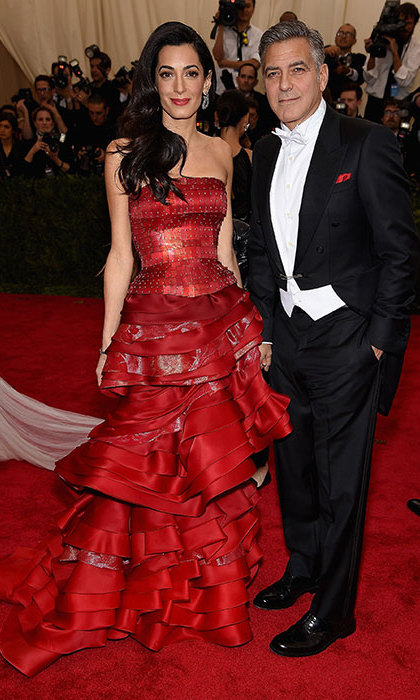 <p>Amal Clooney in Maison Margiela at the 2015 Met gala.</p>