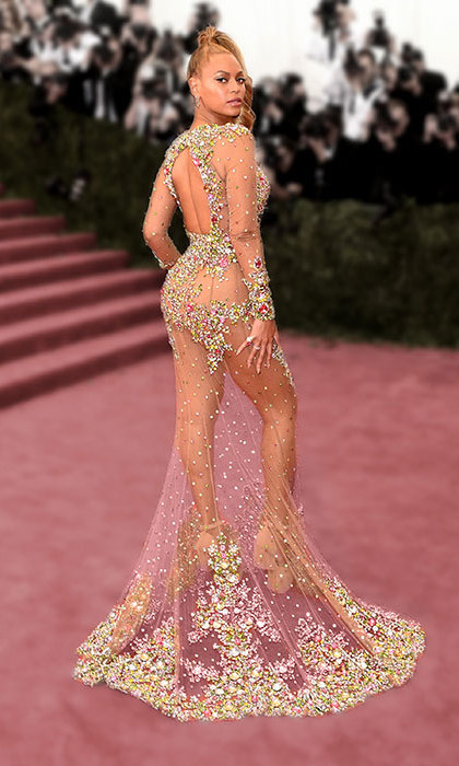 Beyoncé in Givenchy Couture at the Met gala.