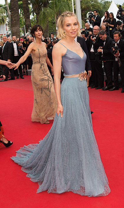 Sienna Miller in Gucci at the Cannes Film Festival.