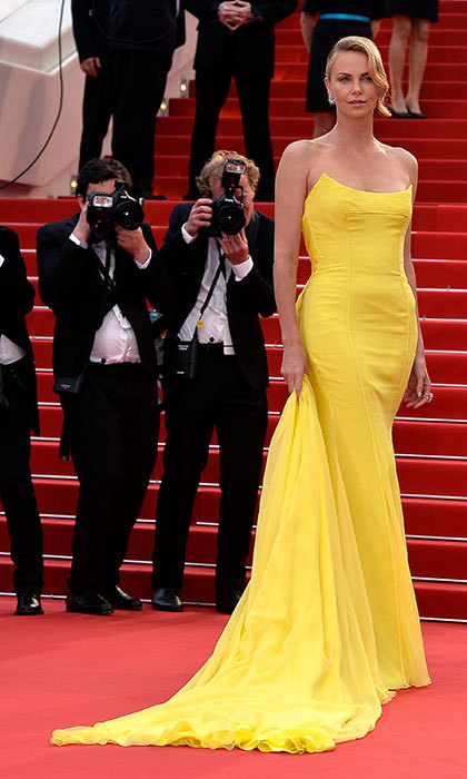 Charlize Theron in Dior at the Cannes Film Festival.<p>Photo: © Getty Images</p>