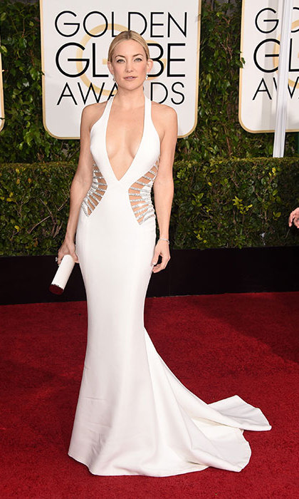 Kate Hudson in Atelier Versace at the Golden Globes.<p>Photo: © Getty Images</p>
