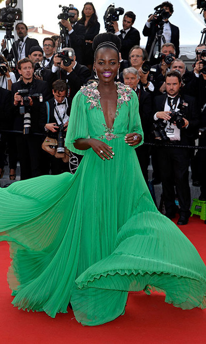 Lupita Nyong'o in Gucci at the Cannes Film Festival.