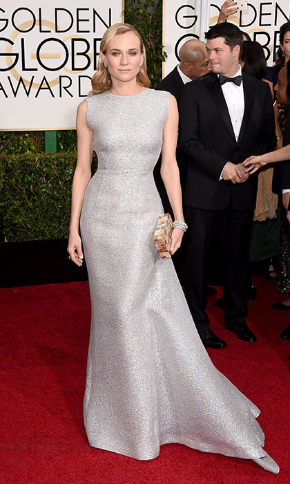 Diane Kruger in Emilia Wickstead at the Golden Globes.<p>Photo: © Getty Images</p>