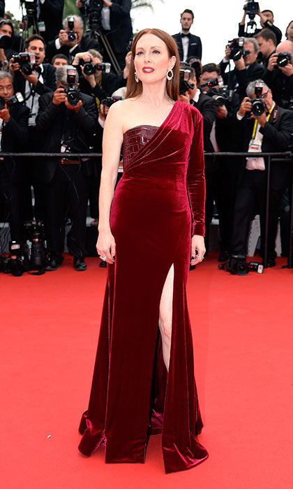 Julianne Moore in Givenchy Couture at the Cannes Film Festival.