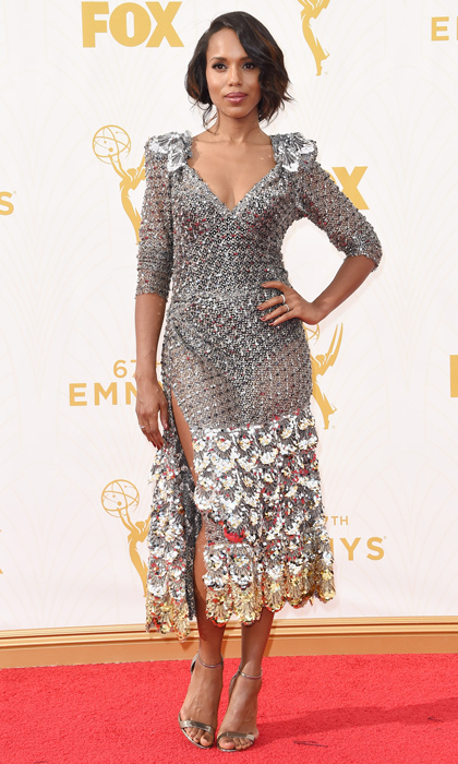 Kerry Washington in Marc Jacobs at the Emmy Awards. 