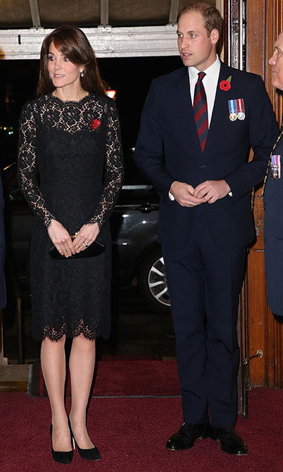 Kate paid her respects at the Festival of Remembrance on Nov. 7 in lace Dolce & Gabbana. 