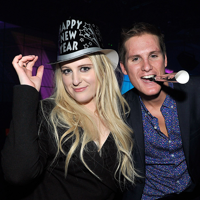 Meghan Trainor and her brother, Ryan, partied the night away at Mandalay Bay's Light Nightclub in Las Vegas. 