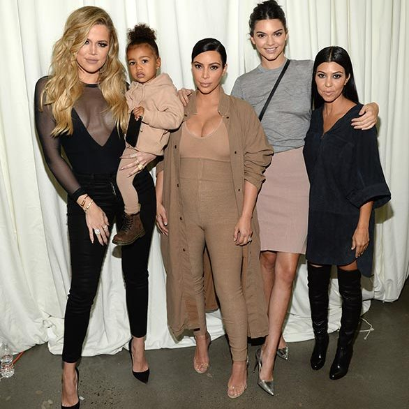 Showing off her high fashion credentials, matching her family member's outfits for dad Kanye's Yeezy Season 2 show at New York Fashion Week.